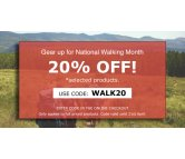 Gear Up For National Walking Month With 20% OFF!