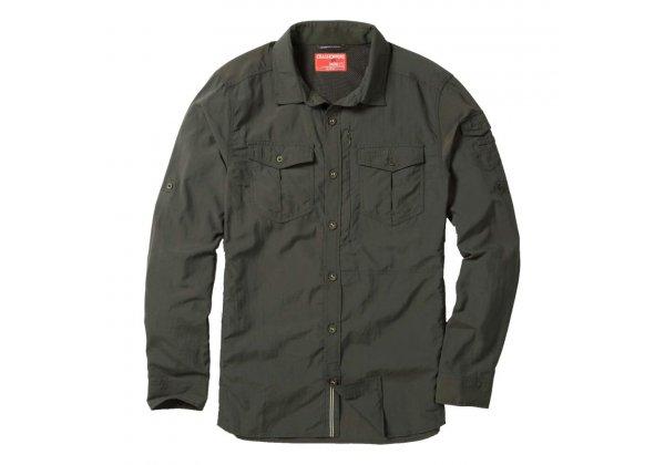Craghoppers NosiLife Adventure Long Sleeve Shirt Khaki