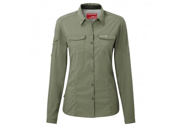 Craghoppers NosiLife Adventure Womens Shirt Soft Moss