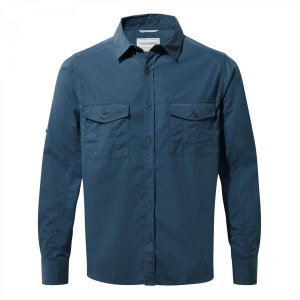 Craghoppers Kiwi Long Sleeve Shirt Indigo