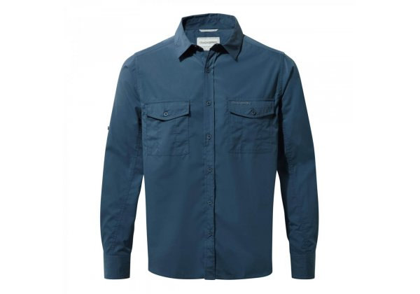 Craghoppers Kiwi Long Sleeve Shirt Indigo