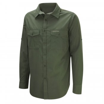 Craghoppers Kiwi Long Sleeve Shirt Cedar