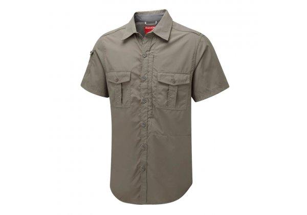 Craghoppers NosiLife Short Sleeve Shirt Dusky Green