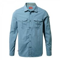 Craghoppers NosiLife Adventure Long Sleeve Shirt Smoke Blue