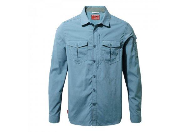Craghoppers NosiLife Adventure Long Sleeve Shirt Smoke Blue